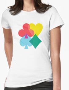 Card Shuffle 1.0 Womens Fitted T-Shirt