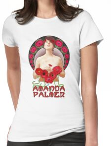 Amanda Palmer - Alphonse Mucha Womens Fitted T-Shirt
