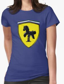 Ferrari parody Womens Fitted T-Shirt
