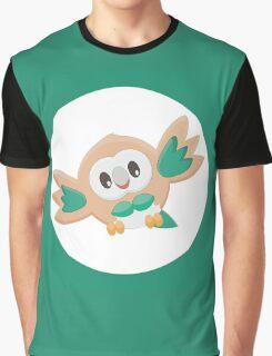Rowlet Pokemon Design Graphic T-Shirt