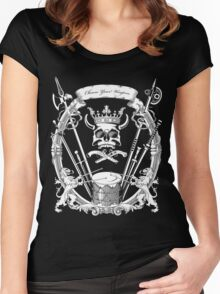 Choose your weapon. Women's Fitted Scoop T-Shirt