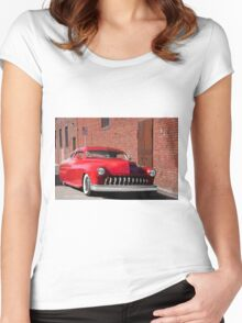 1951 Mercury 'No Parking' Custom Coupe Women's Fitted Scoop T-Shirt