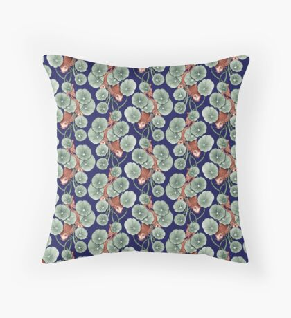 Koïfish bleu marine Throw Pillow