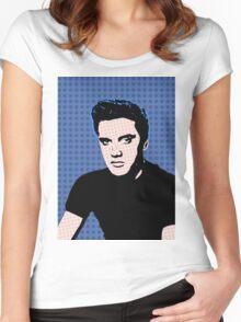 Rock God Elvis Women's Fitted Scoop T-Shirt