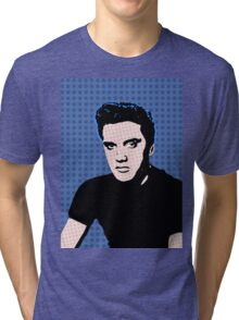 Rock God Elvis Tri-blend T-Shirt