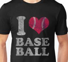 Vintage I Love Baseball Unisex T-Shirt