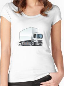 Cartoon delivery / cargo truck Women's Fitted Scoop T-Shirt