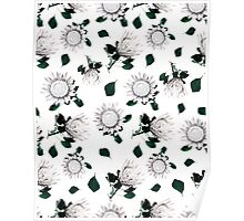 Protea Floral Pattern Poster