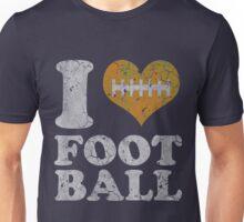 I Heart Football Vintage Unisex T-Shirt