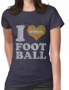 I Heart Football Vintage Womens Fitted T-Shirt
