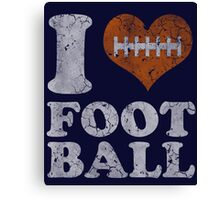 I Heart Football Vintage Canvas Print