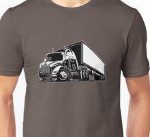Cartoon cargo semi-truck Unisex T-Shirt