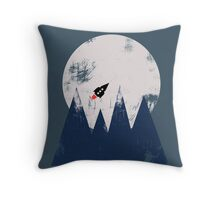 Headed for the Moon Throw Pillow