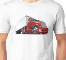 Cartoon cargo semi-truck Unisex T-Shirt