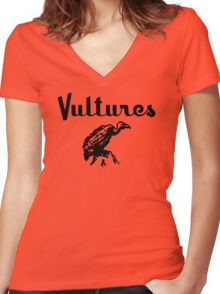 Vultures Retro Women's Fitted V-Neck T-Shirt