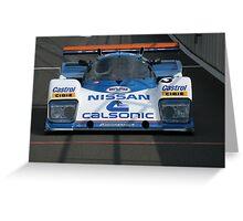 Nissan R88C Calsonic Greeting Card