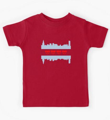 Chicago Flag Cubs Skyline Kids Tee