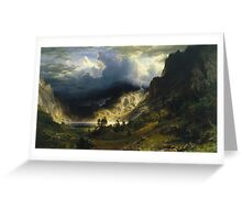 Albert Bierstadt - A Storm In The Rocky Mountains Mt Rosalie Greeting Card