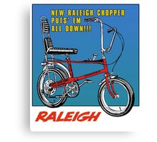 Raleigh Chopper Bicycle UK Canvas Print