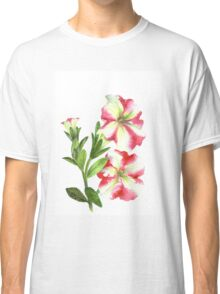 White and Pink Petunias Classic T-Shirt