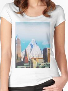 Elevation Of Cleveland  Women's Fitted Scoop T-Shirt