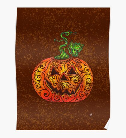 Swirly Pumpkin Poster