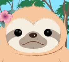 Super Cute Sloth sitting on the grass.  Sticker