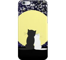 Abstract star's background with cats iPhone Case/Skin