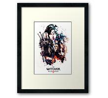 THE WITCHER WILD HUNT LOGO RBTR Framed Print