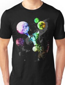 Space Cat with Planets Unisex T-Shirt