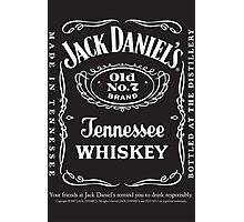 Whiskey JD Photographic Print