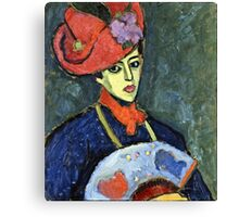 Alexei Jawlensky - Schokko With Red Hat  Canvas Print