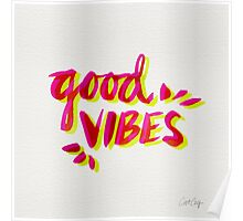 Good Vibes – Pink & Yellow Poster