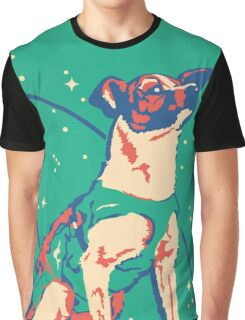 Laika Space Dog Illustration Vector Russian Propaganda Pup Retro Vintage Graphic T-Shirt