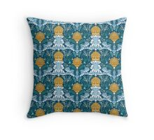 Poissons et anémones Throw Pillow