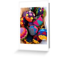 """Knitted Hackey-Sack Balls"" Greeting Card"