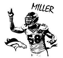 Von Miller - Denver Broncos - NFL Photographic Print