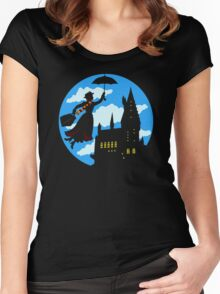 fly me to the moon Women's Fitted Scoop T-Shirt