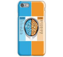 Human brain left and right functions iPhone Case/Skin