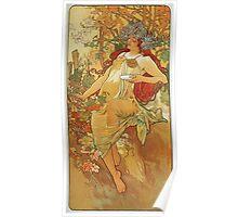Alphonse Mucha - Autumn 1896 Poster