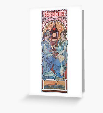 Alphonse Mucha - Benedictine Greeting Card