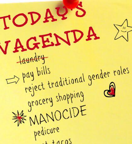 Today's Vagenda Sticker