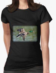 May Minsi Mallard Flight Womens Fitted T-Shirt