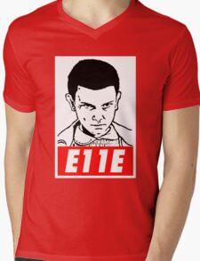 E11E Eleven Stranger Things Mens V-Neck T-Shirt