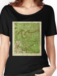 USGS TOPO Map Arizona AZ Pine 314910 1940 62500 Women's Relaxed Fit T-Shirt