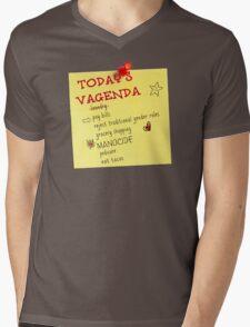 Today's Vagenda Mens V-Neck T-Shirt