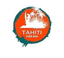 TAHITI surf Paradise Photographic Print