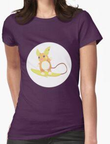 Alolan Raichu Pokemon Design Womens Fitted T-Shirt