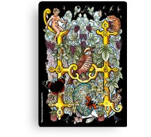 """The Illustrated Alphabet Capital  H  """"Getting personal"""" from THE ILLUSTRATED MAN Canvas Print"""