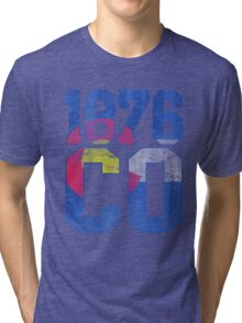 Vintage Colorado Flag Est 1876 Tri-blend T-Shirt